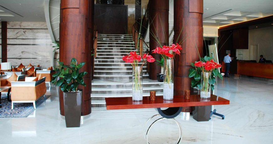Nettoyage espaces communs lobby entrée hôtel